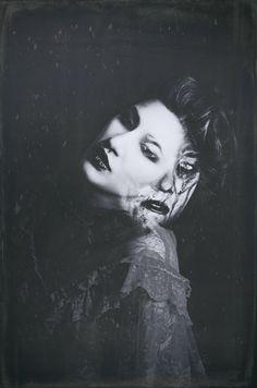 """Ectoplasm"" —  Photographer: Beatnik Twist Photography Makeup: Kasie George-Estes Model: Amber Brown"