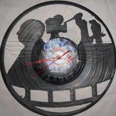 22,50 € Horloge vinyle décoration Alfred Hitchcock