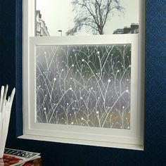 Willow Privacy Window Film - 3 ft. x 4 ft. contemporary-window-treatments  for lower half of window in bathrooms?  Maybe even in skylights?