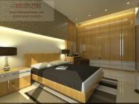 Mẫu giường ngủ gỗ veneer cho căn phòng nhỏ hiện đại