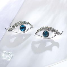 Blue Eye Rhinestone Stud Earrings - Lulugem.com  https://www.lulugem.com/collections/all-earrings/products/blue-eye-rhinestone-stud-earring