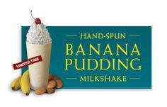 Chick-fil-A Hand-Spun Banana Pudding Milkshake