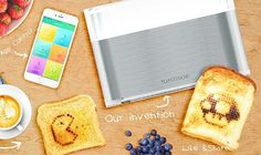 Toasteroid Smart Toaster Lets You Customize Your Toasts by Your Smartphone