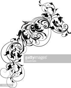 Arte vettoriale : Elegant Blackleaf and Scroll