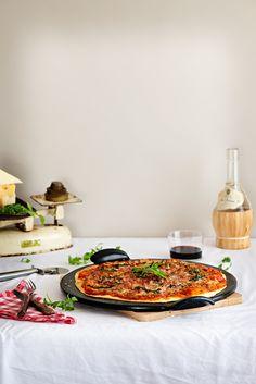 Pizza de queso, panceta y rúcula | Claudia & Julia