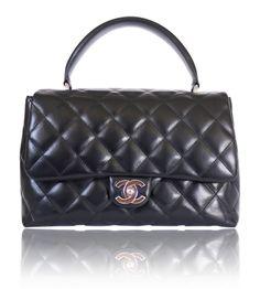 Chanel Black Lamb Skin 2.55 Timeless Classic Kelly Handbag Silver - Garo Luxury - Authentic Luxury Goods