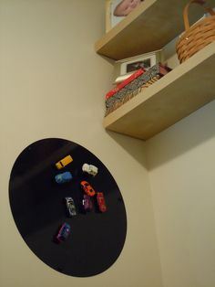 Close up of the Ikea #Magnetic Board and magnetic #Hot #Wheels! Ikea. Hot Wheels. Magnets.