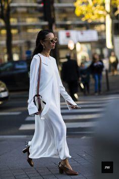 #sheer #white #dress #silk #maxidress #fashion #streetstyle