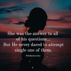 She was the answer to all of his questions. But he never dared to attempt single one of them. Quotes Deep Feelings, Girly Attitude Quotes, Pain Quotes, Sassy Quotes, Sarcastic Quotes, Qoutes, Trust Quotes, Reality Quotes, Life Lesson Quotes