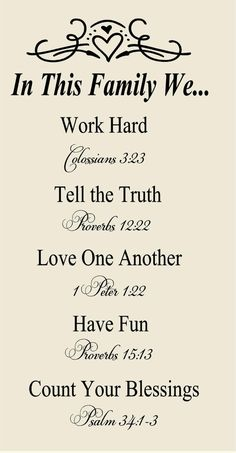 In this Family-Bible verses to Live x Vinyl Wall Decal-Wall Mural Lettering-Wedding House Warming Gift – Quotation Mark Family Bible Quotes, Family Scripture, Bible Verses Quotes, Life Quotes, Bible Verses About Family, Inspirational Quotes About Family, Lyric Quotes, Attitude Quotes, Bible Scriptures