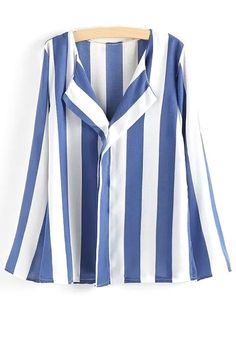 Long Sleeve Vertical Stripes Shirt
