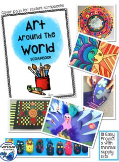 Art Around the World has EASY lessons for busy teachers. I am also a teacher and expected to cover all curriculum areas, but that doesn't mean we don't have time for art. The secret: integration! I've created. These 18 fun lessons have teacher scripts to read aloud about each country and customs, step-by-step photo instructions, and a simple supply list.
