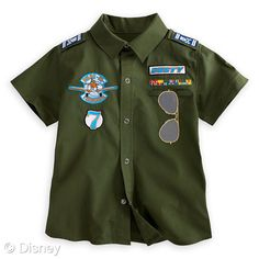 Dusty Woven Shirt for Boys MSRP: $22.50 Retailers: Disney Store and DisneyStore.com Available: Now The daring young pilots of playtime will get a lift from this military style woven shirt featuring embroidered Dusty patches, aviator ''glasses,'' and insignia, all in honor of Disney's latest animated feature, Planes.