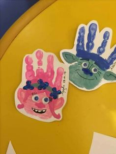 Trolls craft trolls activity poppy craft branch craft hand print crafts