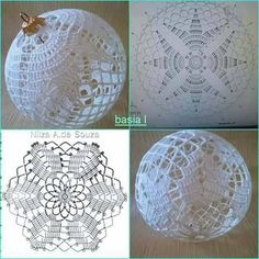 Candlelight and Lace Thread Crochet ePattern Crochet Christmas Decorations, Crochet Christmas Ornaments, Crochet Decoration, Christmas Crochet Patterns, Holiday Crochet, Crochet Snowflakes, Christmas Baubles, Christmas Cross, Handmade Christmas
