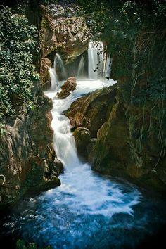 Puente de Dios en #Tamasopo, San Luis Potosi, #Mexico. Se encuentra a 4 km de Tamasopo, rumbo a la estación de ferrocarril El Cafetal, y luego de aquí se camina por 15 minutos. Formado por la roca natural, se ve un puente que rodea una poza con abundante vegetación. Se encuentran también cascadas y una cueva con formaciones de estalagmitas y estalactitas. Los alrededores son ideales para excursiones, acampar o simplemente para disfrutar del paisaje, puedes nadar Tour By Mexico - Google+