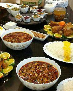 Almond stew(persian food) - Khoresh Khalal Kermanshahi