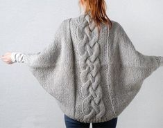 Items similar to Hand knitted cable cardigan on Etsy Hand knitted cable cardiganWalk in the Woods Knitting pattern by Lisa HannesFree Knitting PatternSuper Easy Knit Slippers From Square Free Knitting Pa. Shrug Knitting Pattern, Sweater Knitting Patterns, Free Knitting, Kimono Pattern Free, Knitted Slippers, Knitted Poncho, Cable Cardigan, Cable Knit, Diy Crafts Crochet