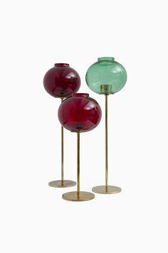 Hans-Agne Jakobsson candlestick in brass and glass at Studio Schalling #midcenturymodern #candlestick