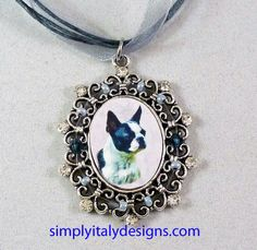 Hi all,  I wanted to share my personalized dog themed jewelry. It is beautiful and affordable. Also, I CAN MAKE ONE USING A PHOTO OF YOUR DOG AT NO EXTRA COST. I will make a beautiful portrait by placing your dog on the background of your choice.  The shown necklace is 15.99 with free shipping. I have many different designs available including bracelets, earrings, brooches, keychains...take a look at my website: www.simplyitalydesigns.com      Thank you!