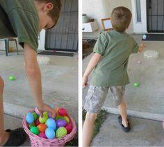 Easter Game - plastic egg toss