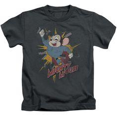MIGHTY MOUSE/BREAK THROUGH - S/S JUVENILE 18/1 - CHARCOAL - LG (7)  BREAK THROUGH | Cartoon T-Shirts | Mopixiestore.com