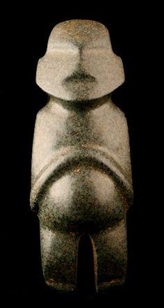 Mezcala Stone Pregnant Idol Origin: Guerrero, Mexico Circa: 300 BC to 300 AD