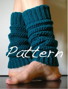 Crochet leg warmer: only photo example