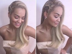 Rita Ora rocked a gorgeous side braid - copy her exact hair look for the holidays!