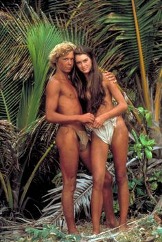 1980, with Christopher Atkins on the set of Blue Lagoon - ELLE.com
