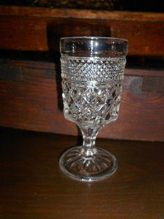 Crystal Glass - Anchor Hocking Wexford - Glassware -Goblets- Wine. $8.00, via Etsy.