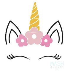 Floral svg de unicornio unicornio bebé ducha svg bebé niña