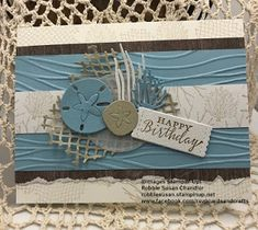 Sea of Textures Stamp Set and Under the Sea Dies by Stampin' Up were used to construct this card. Octopus Card, Nautical Cards, Beach Cards, Friends Are Like, Stamping Up Cards, Masculine Cards, Card Making, Homemade Cards, Birthday Cards
