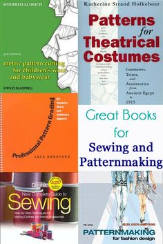 5+ Great Books for Sewing and Patternmaking - via Melly Sews.  Also offers online classes on pattern making with CAD + other classes.