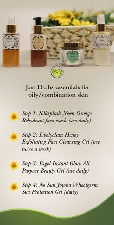 This kit includes Just Herbs' cream-free regime for oily/combination skin. Not only is this kit an ideal way to try products before investing in the full-sized kit but it also makes for a delightful gift. A 4 step organic skincare regime tailor-made for oily/combination skin, this kit uses no creams and relies solely on cooling gels and light textured products instead to maintain an overall glow and nourishment for oily and combination skin types.