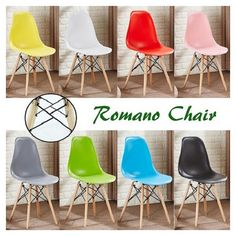 Romano Eames Dsw Style Chair Design Chaise Dsw Design Scandinave... ($40) ❤ liked on Polyvore featuring home, furniture, chairs, dining chairs, black, dining room furniture, home & living, ebony furniture, black kitchen chairs and eames style chair