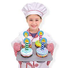Melissa and Doug : Wooden Cupcake Set