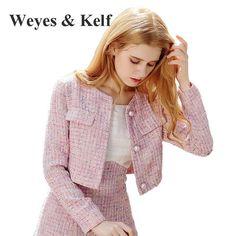 Weyes и кепф зимняя розовая куртка с длинными рукавами короткие Шерстяное пальто женские 2017 Женская куртка Верхняя одежда Для женщин S Куртки Mujer купить на AliExpress