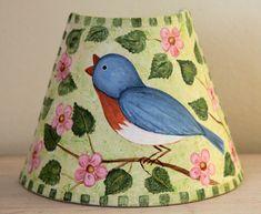 Hand Painted Bluebird Night Light Americana by RavensBendFolkArt