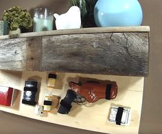 A friend needed a floating shelf that had a secret compartment for some of their important items. We decided to use reclaimed wood for the finish. And this is how I made it!