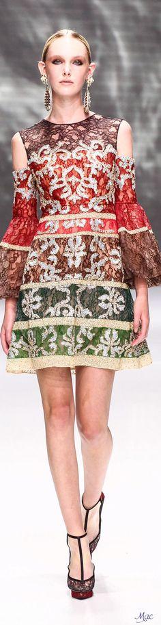 Fall 2016 Haute Couture - Sebastian Gunawan Couture Week, Sebastian Gunawan, Couture Collection, Designing Women, Color Combinations, Catwalk, Peplum Dress, Winter 2017, Fall 2016