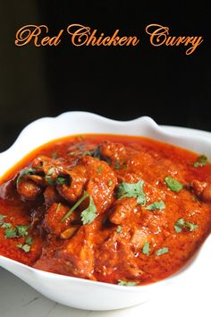 YUMMY TUMMY: Spicy Indian Red Chicken Curry Recipe