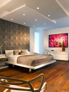 Decoración de interior de un dormitorio moderno