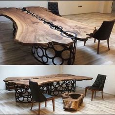 From @gangzahome. This base and table top joinery really makes this a unique piece! . . . . Follow us - @carpenter.daily To be Featured ♥…