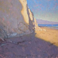 Dan Schultz - Shoreline Shadows. Oil on Linen · 24 x 24 inches