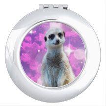 #meerkat With Sparkle Ladies #compact Mirror, Makeup Mirror.