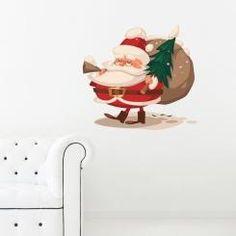 Santa Claus col Pinetto Wall Sticker Adesivo da Muro