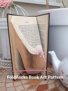 High Heel Folded Book Art Pattern Instant by FoldilocksBookArt