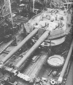 """15"""" Battleship gun turret under construction"""