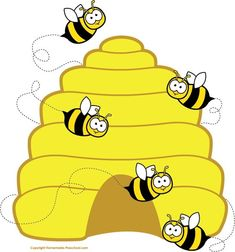 Clipart walk awat from a bee - Clip Art Library Honey Bee Cartoon, Cartoon Bee, Beehive Pictures, Bee Pictures, Colorful Pictures, Bee Clipart, Bee Images, Honey Bee Hives, Beekeeping